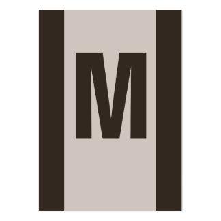 Businesscards de monogramme cartes de visite personnelles