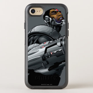 Buste 2 de cyborg et d'arme coque otterbox symmetry pour iPhone 7