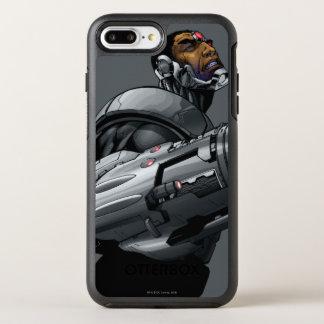 Buste 2 de cyborg et d'arme coque otterbox symmetry pour iPhone 7 plus