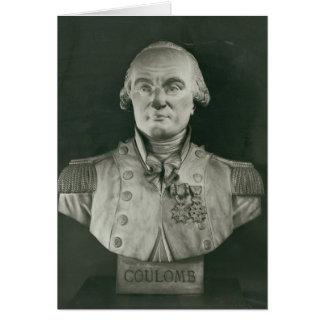 Buste de Charles de Coulomb Carte De Vœux
