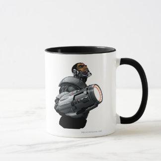 Buste de cyborg et d'arme mug
