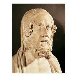Buste de Homer, période hellénistique Carte Postale