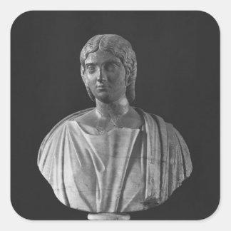Buste de Julia Mamaea Autocollant Carré