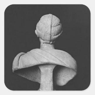 Buste de Julia Mamaea Autocollants Carrés