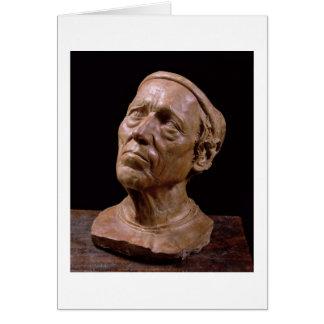 Buste de portrait de Girolamo Benivieni (cire) Carte De Vœux