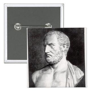 Buste de Thucydides, gravé par Barbant Badge Carré 5 Cm