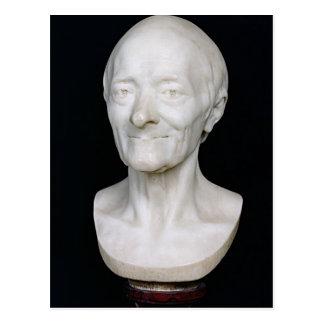 Buste de Voltaire sans sa perruque, 1778 Carte Postale