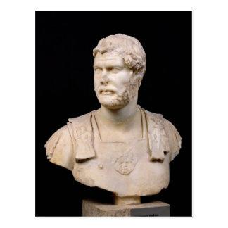 Buste d'empereur Hadrian trouvé en Crète Carte Postale
