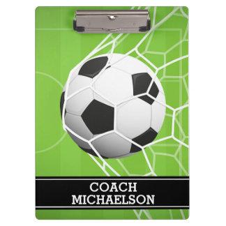 BUT de ballon de football pour l'entraîneur, Porte-bloc