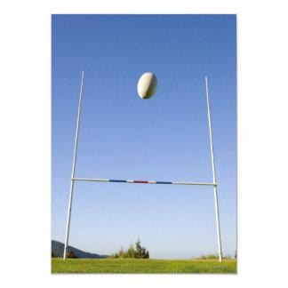 But de rugby carton d'invitation  12,7 cm x 17,78 cm