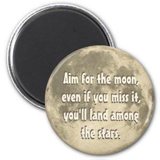 But pour la lune magnet rond 8 cm