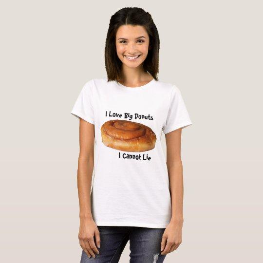 Butées toriques d'amour de la chemise I de beignet T-shirt