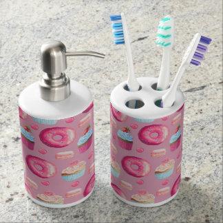 Butées toriques, petits gâteaux, et sucreries portes brosse à dents