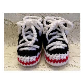 Butins de bébé de chaussures de tennis cartes postales