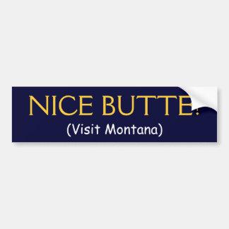 BUTTE AGRÉABLE ! (Visite Montana) Autocollant De Voiture
