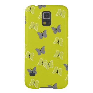 butterfly yellow coques pour galaxy s5