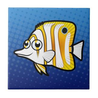 Butterflyfish de bande dessinée petit carreau carré