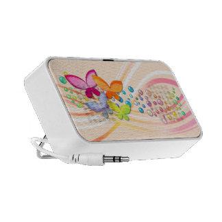 Butterflys et gemmes haut-parleurs portables
