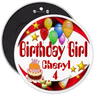 ~Button de fille d'anniversaire # 3 Badges