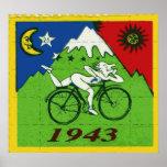 """""""Buvard de célébration de jour de bicyclette """" Posters"""
