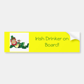 buveur irlandais et irlandais à bord ! adhésifs pour voiture