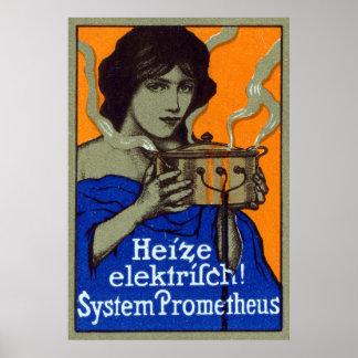C. 1910 affiche de cuisine d'Allemand