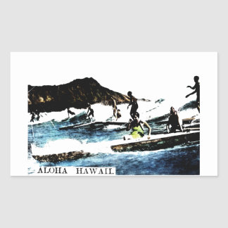 C. 1925 Hawaï vintage Sticker En Rectangle
