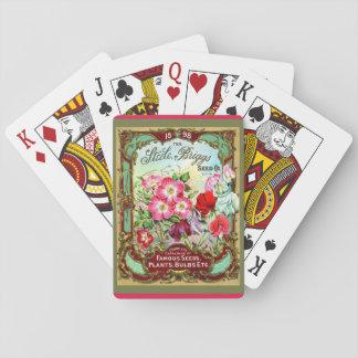 c. Belle vieille image florale de paquet de la Jeux De Cartes
