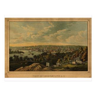 C.C de Georgetown en 1855 Carte Postale