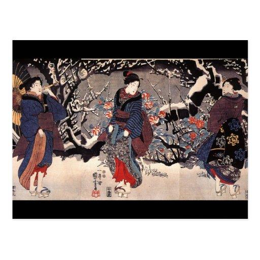 C. de peinture japonais 1800's cartes postales
