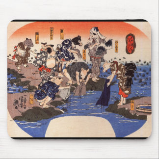 C. de peinture japonais 1800's tapis de souris