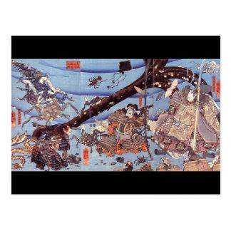 C. de peinture japonais samouraï 1800's cartes postales