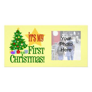C est mon premier Noël cartes photos de bébé de v Cartes De Vœux Avec Photo