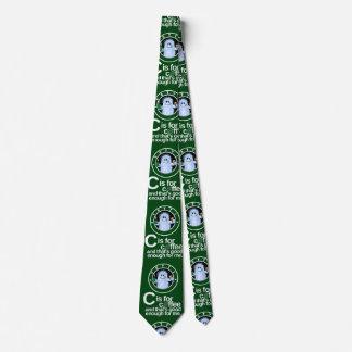 C est pour la cravate de café (le vert)