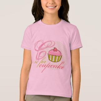 C est pour le T-shirt de sonnerie de filles de