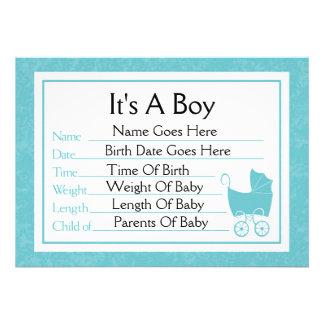 C est un faire-part de naissance de garçon