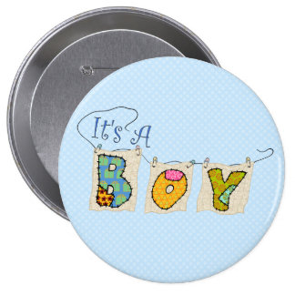 C est un garçon piqué - le BOUTON 2 de faire-part Pin's