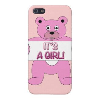 C est un ours de rose de fille étui iPhone 5