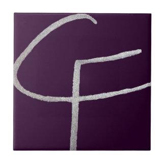 C & F initiales Petit Carreau Carré