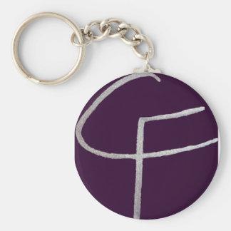 C & F initiales Porte-clé Rond