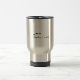 C++: Plus chic que C Mug De Voyage