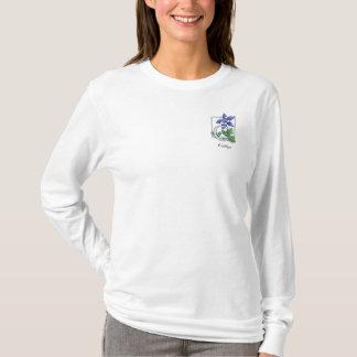 C pour la chemise de monogramme de fleur de t-shirt