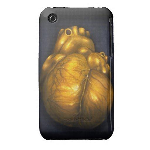 C?ur d'or - cas protecteur de l'iPhone 3 Coque iPhone 3 Case-Mate