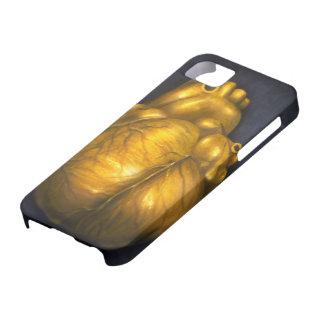 C?ur d'or - cas protecteur de l'iPhone 5 Coque Barely There iPhone 5