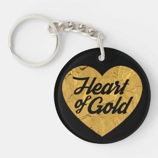 C?ur d'or porte-clefs