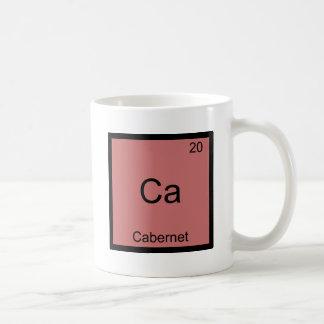 Ca - Pièce en t drôle de symbole d'élément de Mug Blanc