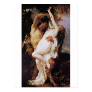Cabanel Alexandre Nymphe et satyre 1860 Cartes Postales