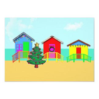 Cabanes de plage de vacances invitations personnalisées