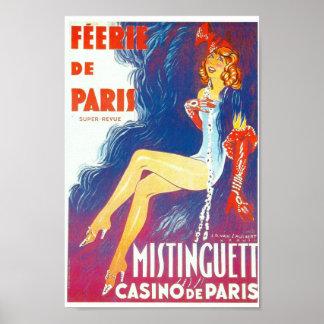 Cabaret de Féerie De Paris Mistinguett Paris Posters