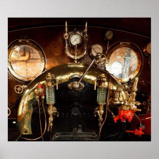 Cabine de machine à vapeur posters